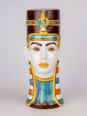 Vaso testa donna egizia (H 33)