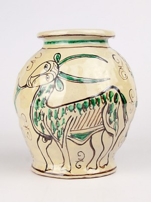 Vaso medievale con capra (Tir. Limitata) (H 18)