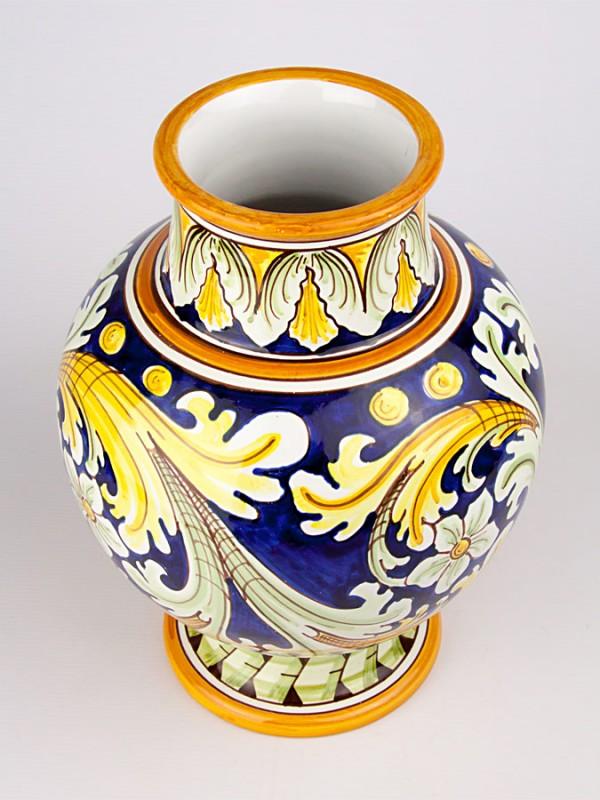 Vaso a boccia con decoro ornato (H 30) Vasi - CeramicArt Caltagirone