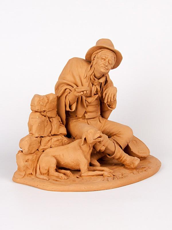 Guercio mendicante (H 21) Sculture - CeramicArt Caltagirone