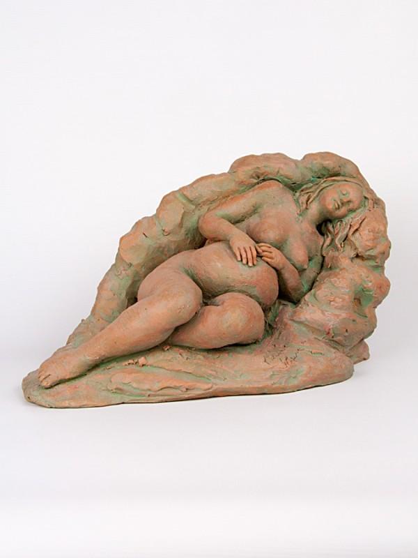Maternità, la prima carezza (Pezzo Unico) (H 20) Sculture - CeramicArt Caltagirone