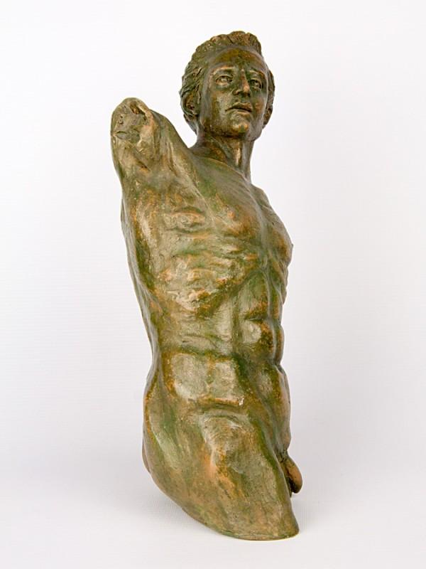 Busto uomo in torsione (Tir. Limitata) (H 30) Sculture - CeramicArt Caltagirone